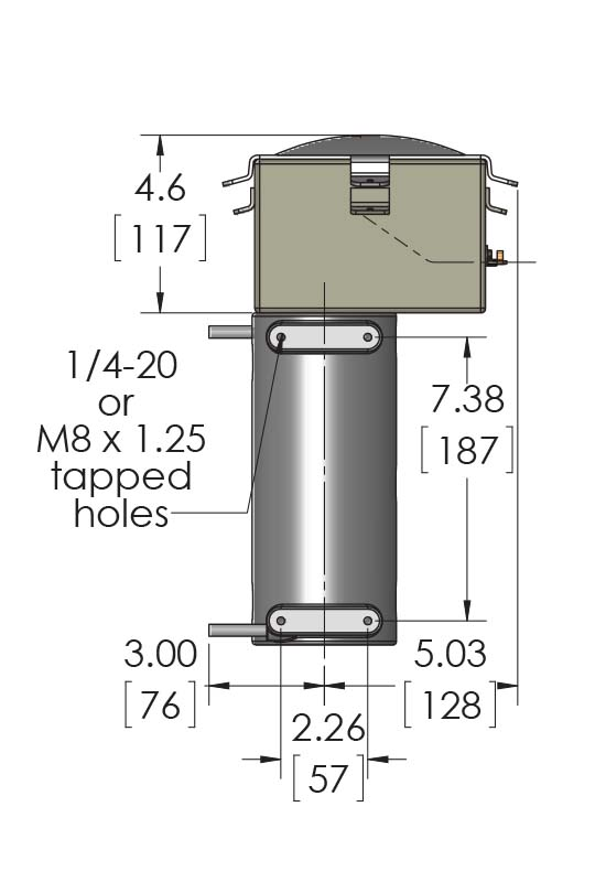 These CAST-X 1000 Circulation Heaters are often used as oil heaters for diesel engines and compressors.