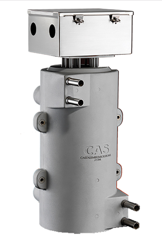 The CAST-X 4000 Circulation Heater offers up to 60 kW of power with multiple voltage and thermocouple options, while also featuring a 1 inch tube made of 316 Stainless Steel.