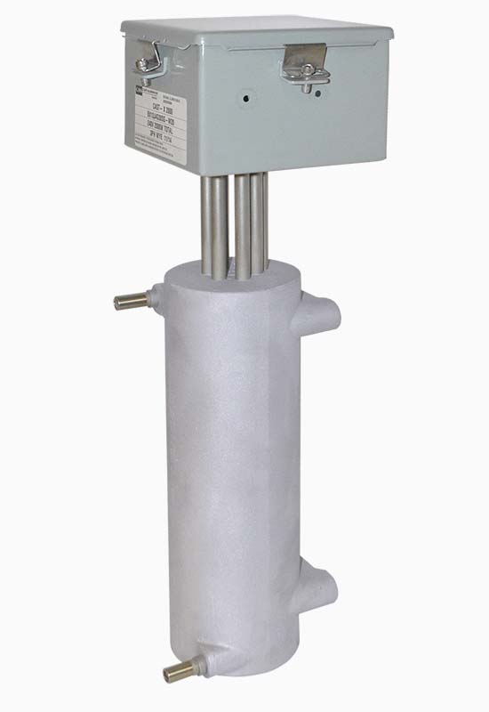 The CAST-X 2000 inline heater with NEMA 4 waterproof housing is perfect for heating food ingredients and pharmacy products because it is sterile and uses stainless steel flow-paths.