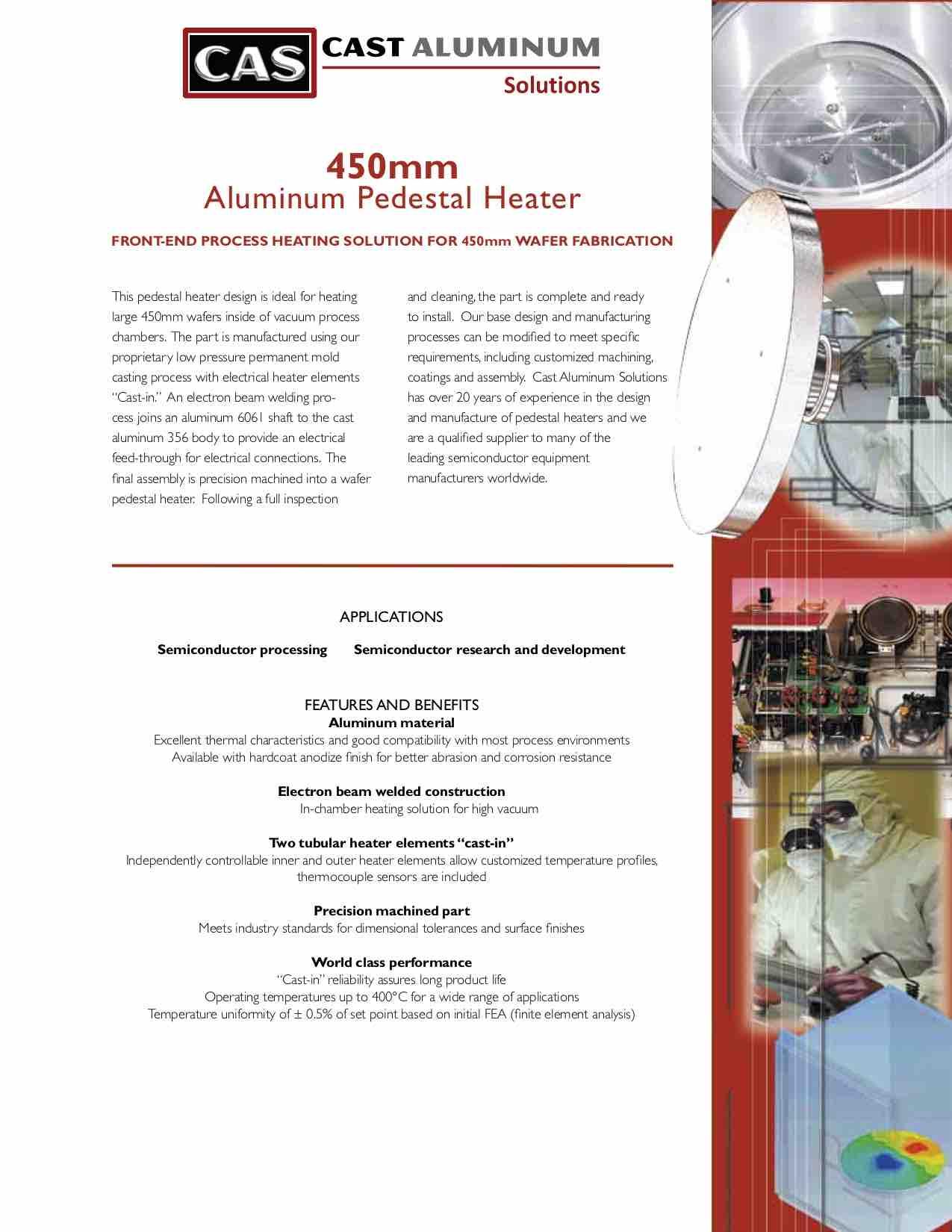 450 Mm Pedestal Heater Cast Aluminum Solutions (dragged)