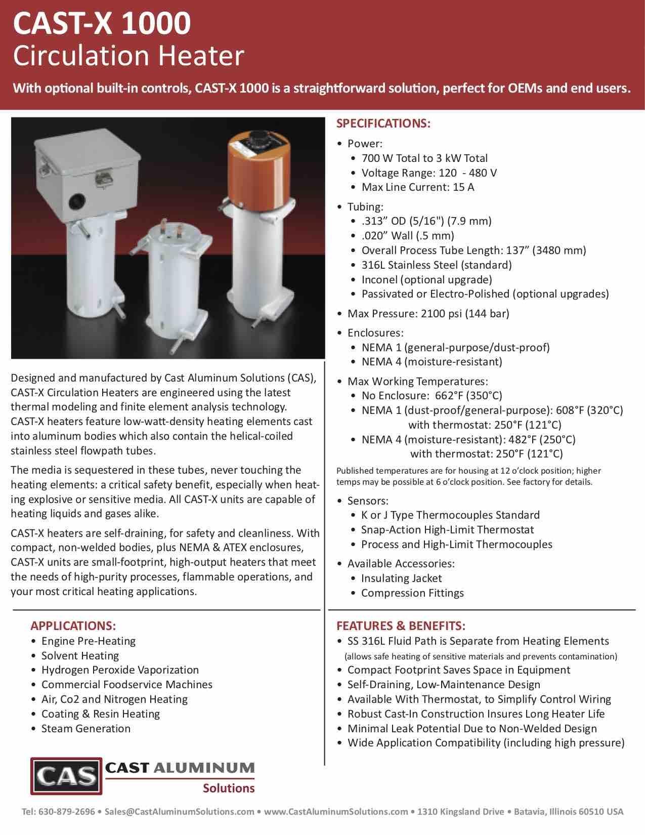 CAST X 1000 Circulation Heater Cast Aluminum Solutions (dragged)