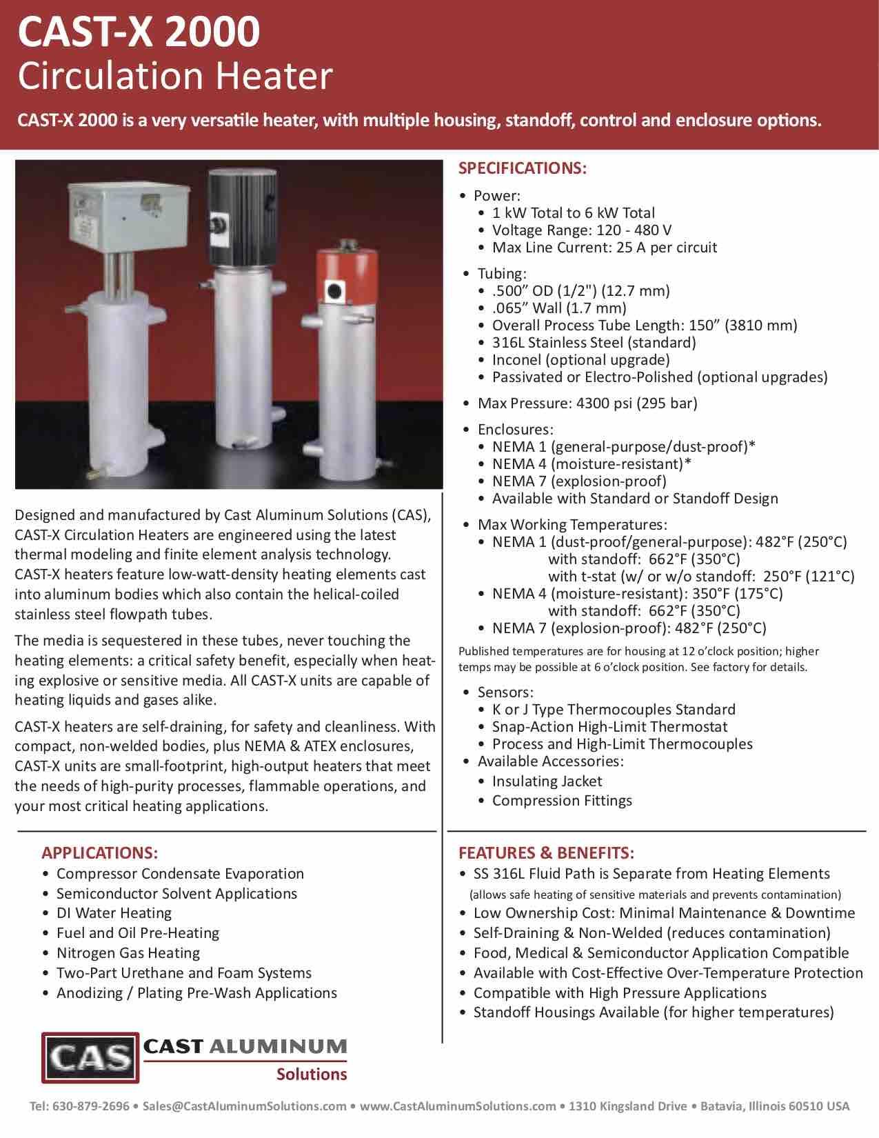 CAST X 2000 Circulation Heater Cast Aluminum Solutions (dragged)