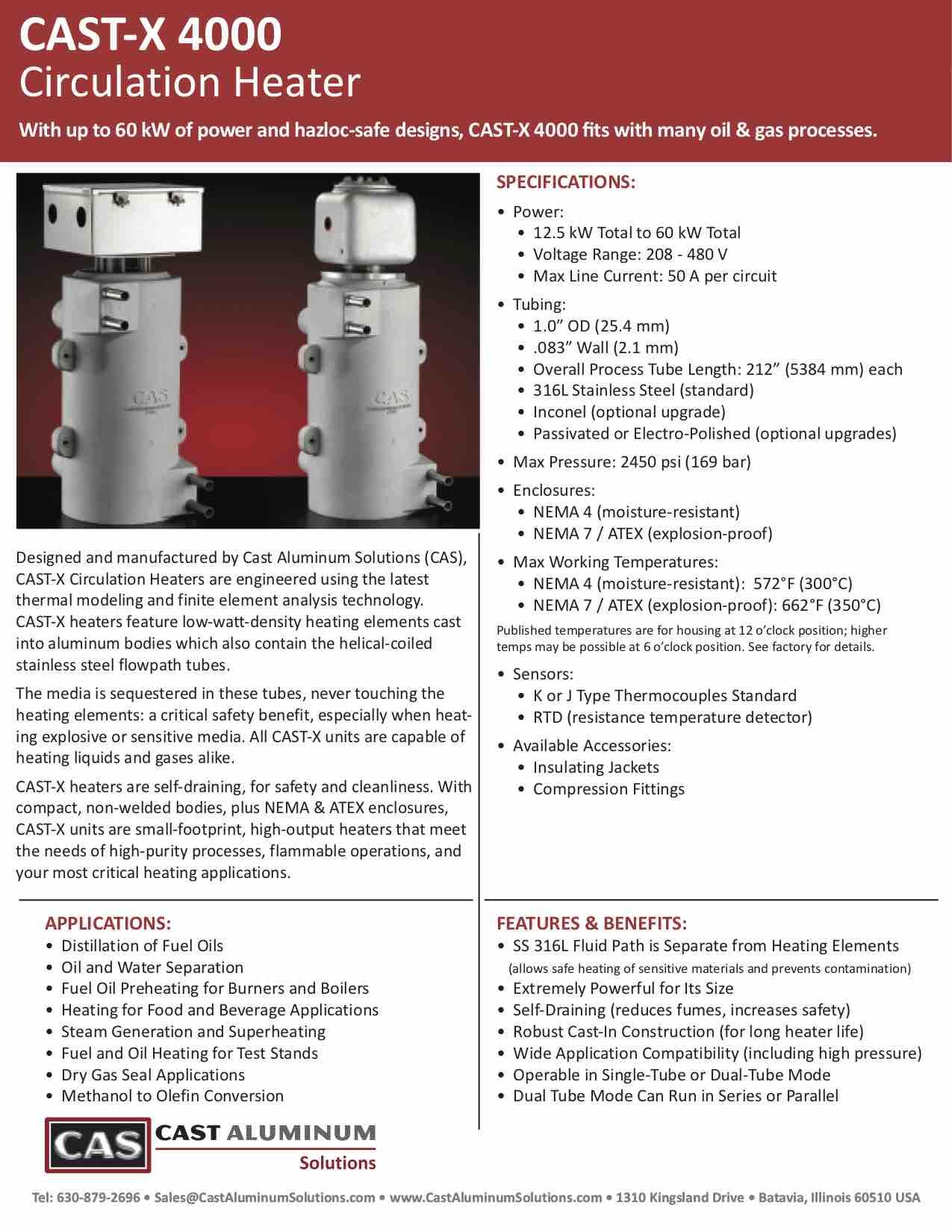 CAST X 4000 Circulation Heater Cast Aluminum Solutions (dragged)