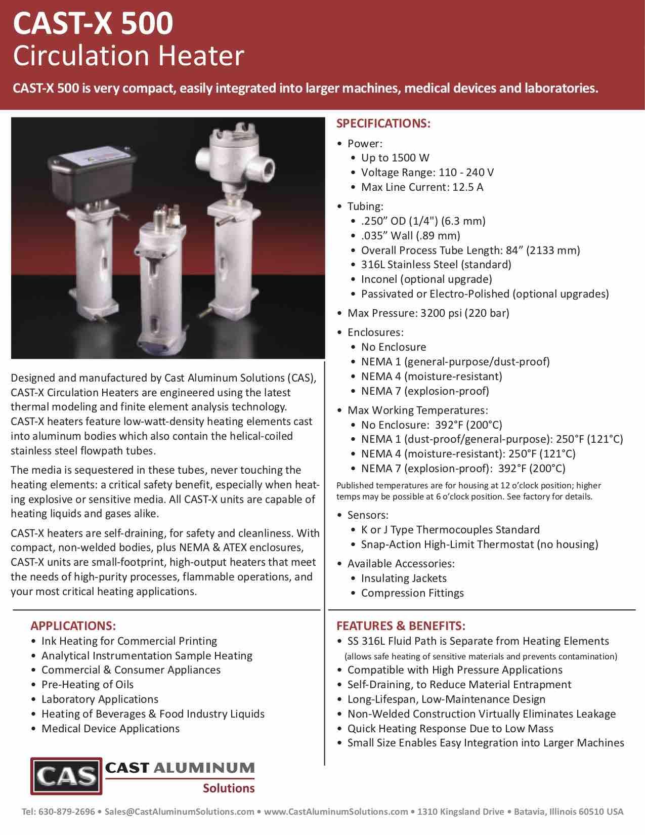 CAST X 500 Circulation Heater Cast Aluminum Solutions (dragged)