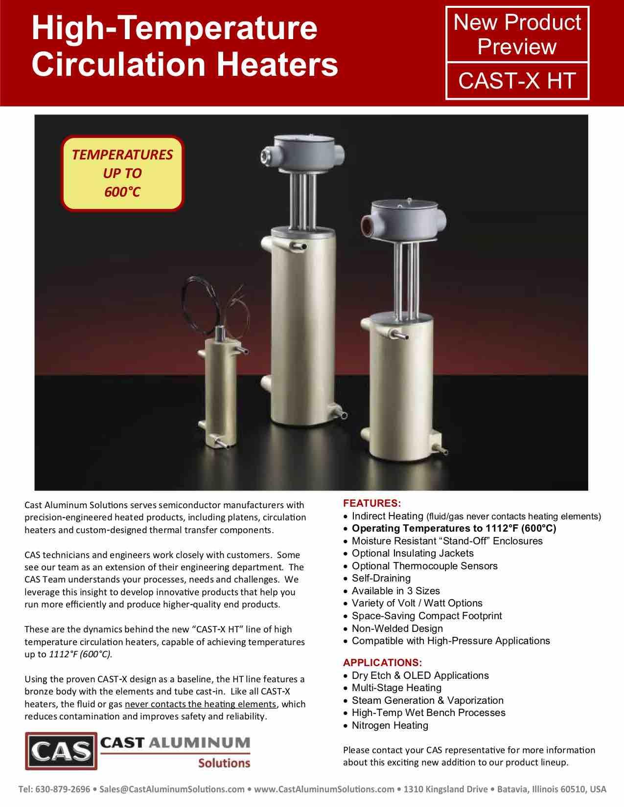 CAST X High Temp Circulation Heaters Cast Aluminum Solutions (dragged)