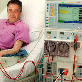 28074929 - patient in a clinic in dialysis