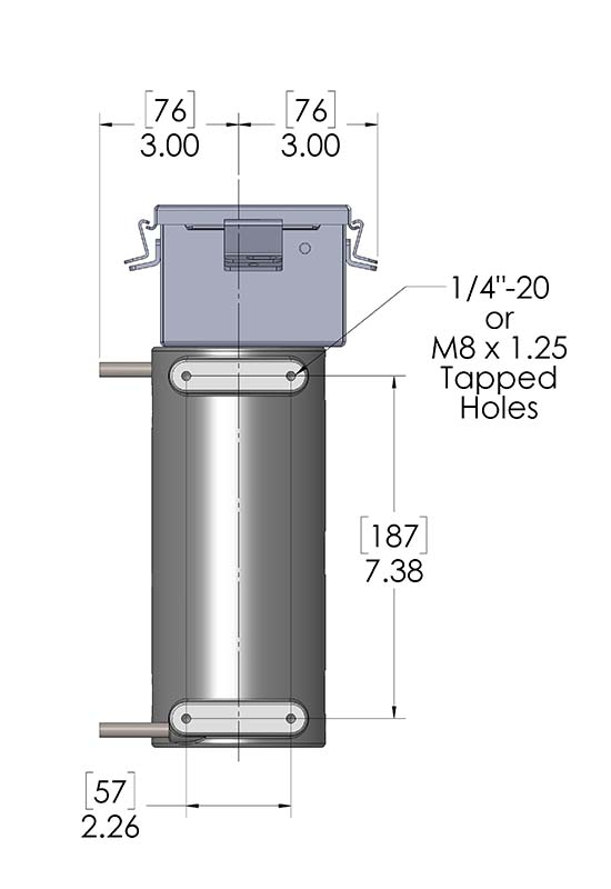 These CAST-X 1000 Circulation Heaters with NEMA 4 enclosures are frequently used as oil heaters for food applications.