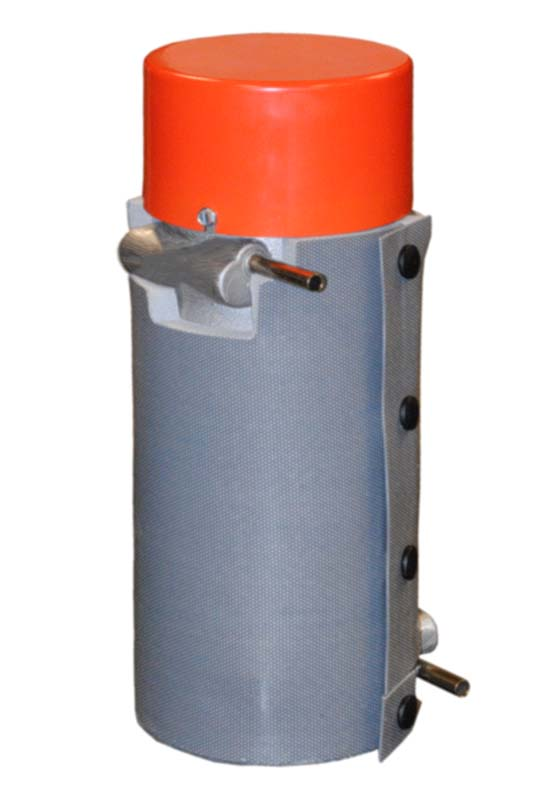 CAST-X 1000 oil heaters like this model are an inline type of circulation heater made by Cast Aluminum Solutions, available with insulating jackets and high pressure fittings.