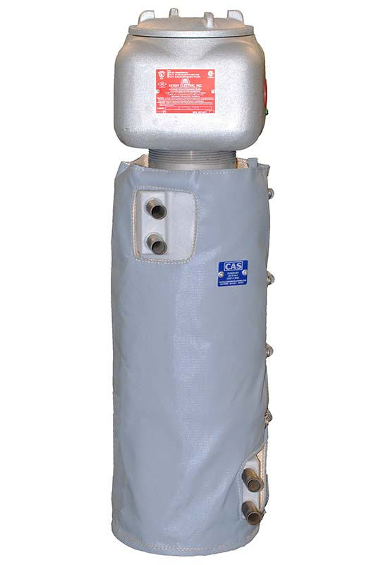 These are CAST-X 3000 electric natural gas heaters, capable of high pressure CNG and Cryogenic heating applications, and manufactured in the United States by CAS.