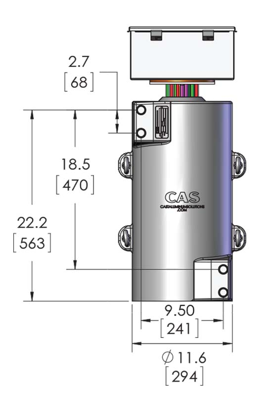 Sizing information for a CAST-X 4000 Circulation Heater with water resistant NEMA 4 Certification, from CAS in Batavia.