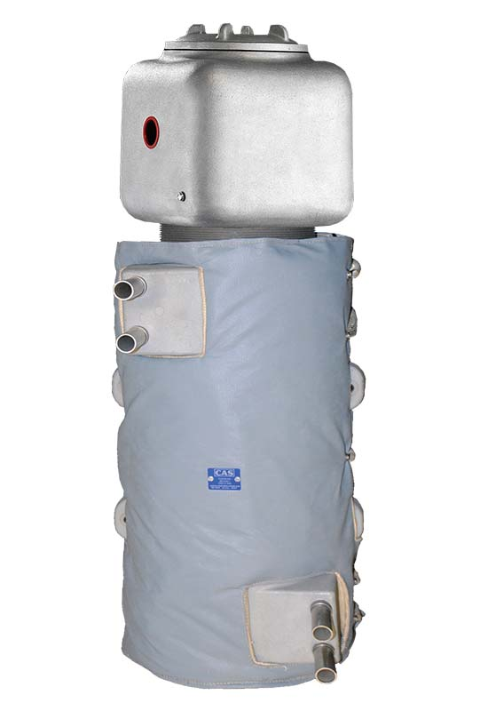 High resolution image of electric circulation heater product, the CAST-X 4000, with optional insulating jacket for complete customer satisfaction.