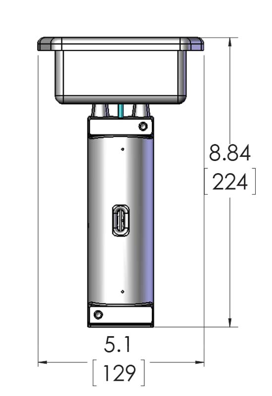 This CAST-X 500 Circulation Heater with NEMA 4 is an excellent fuel heater, and this schematic shows its dimensional details.