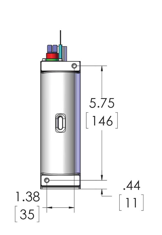 CAST-X 500 for sale with quarter inch fuel heater line, showing no enclosure version in dimensional schematic.
