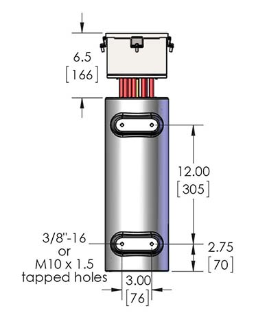 Dimensional details for the CAST-X 3000 inline natural gas heater, which uses SST flowtubes and is haz-loc, high-pressure certified.