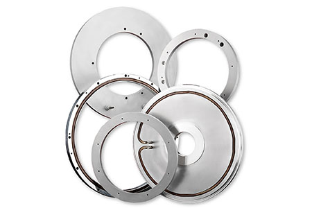 These are custom chamber heaters and heated components for the semiconductor silicon wafer processing market, manufactured and sold by Cast Aluminum Solutions,