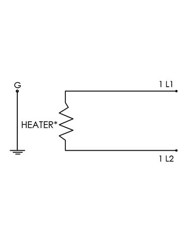 Electric power detail for CAST-X 500 inline fuel heating product compatible with warming flammable gases and combustible liquid fuels.