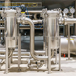 These CAST-X heaters for fruit juice pasteurizing are FDA approved, offer SST tubes, and are manufactured by Cast Aluminum Solutions LLC in Batavia, IL.