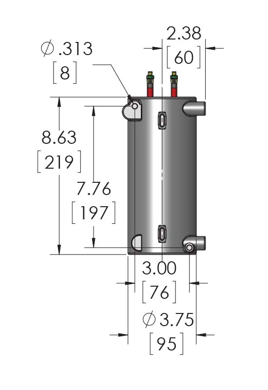CAST-X 1000 Circulation Heater units are used as inline oil reservoir heaters, and this no enclosure option can be accessorized as needed.