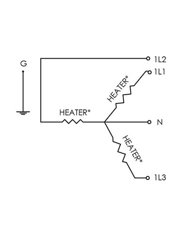 This is a wiring diagram for the PUR-X 2000 high purity heater, installable inline or in circulation system, as made by CAS in Batavia.