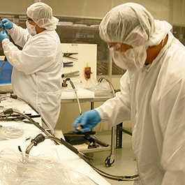 At Cast Aluminum Solutions, this ISO 6 Cleanroom is used to manufacture and assemble silicon wafer chucks.