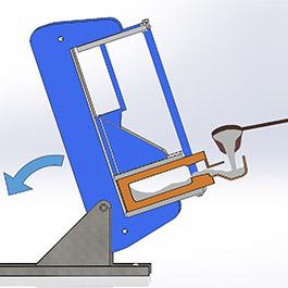 Details on tilt pour casting techniques for manufacturing of high quality aluminum heaters at Cast Aluminum Solutions LLC.