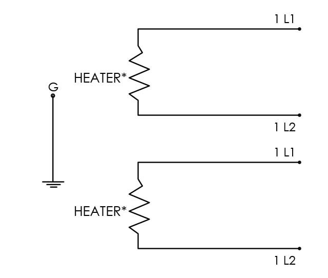 Here is a wiring diagram for the Universal Solvent Heating product, an electric competitor to the quartz heater, offered by Cast Aluminum Solutions in Batavia IL, USA.