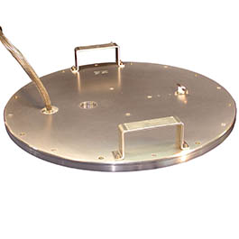 This vacuum chamber lid is a good example of a custom-engineered heated component for the semi market, engineered by the New Product Development Team at CAS in Batavia.