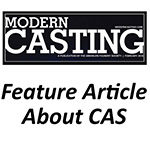 Magazine article with details about Cast Aluminum Solutions products and services, called CAS in Batavia.